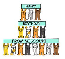 Cats Happy Birthday from Missouri by KateTaylor