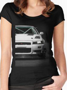 Mat Wootten's Nissan Skyline R34 GTT Women's Fitted Scoop T-Shirt