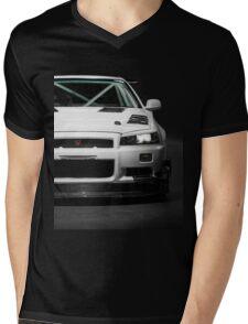 Mat Wootten's Nissan Skyline R34 GTT Mens V-Neck T-Shirt