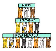 Cats Happy Birthday from Nevada by KateTaylor