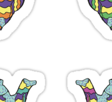 Psychedelic Teapots Sticker