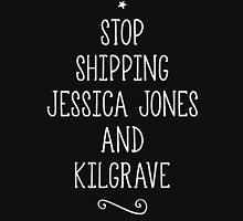 Stop shipping Jessica and Kilgrave 2k15 (white font) Unisex T-Shirt