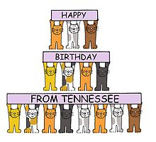 Cats Happy Birthday from Tennessee by KateTaylor