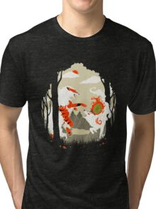 Great Wolves of Fire (Featured on Teefury) Tri-blend T-Shirt