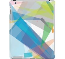 Blue green geometry - abstract case design iPad Case/Skin