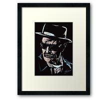 Walter White / Heisenberg (Breaking Bad) Framed Print