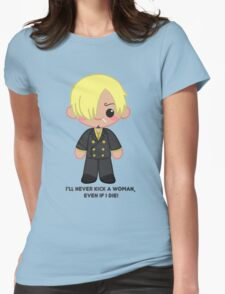 Cute Sanji  Womens Fitted T-Shirt