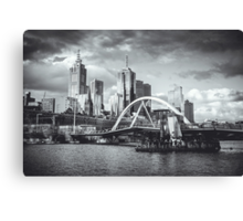 Moody Melbourne from the South Bank of the Yarra River Canvas Print