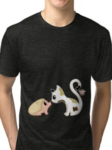 Hedgie and Kitty Tri-blend T-Shirt