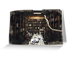 DEATH OF BOOKS Greeting Card