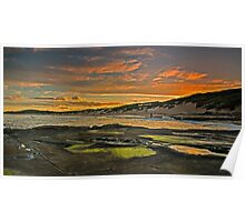 Soldiers Beach Sunset Poster