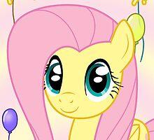Fluttershy Birthday Card - Postcard My Little Pony by FalakTheWolf