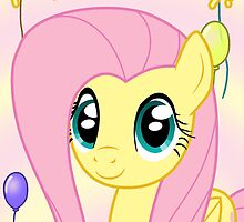 Fluttershy Birthday Card - Postcard My Little Pony by FalakTheWolf