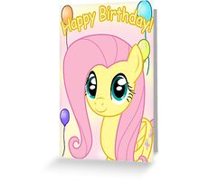 Fluttershy Birthday Card - Postcard My Little Pony Greeting Card
