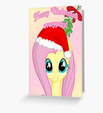Fluttershy Chirstmas Card - Postcard My Little Pony Greeting Card