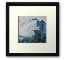 blue ice Framed Print