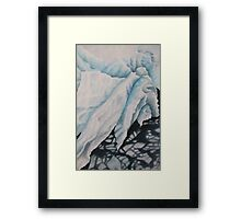 blue ice 2 Framed Print