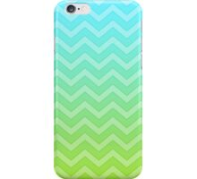 Blue And Green Chevron Pattern Gradient iPhone Case/Skin