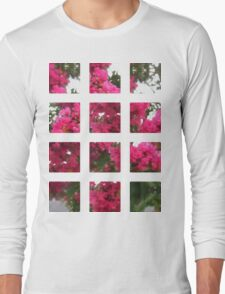 Crape Myrtle Art Rectangles 2 Long Sleeve T-Shirt