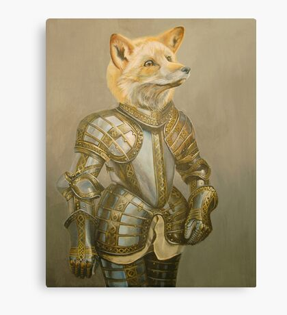 Fox Knight Canvas Print