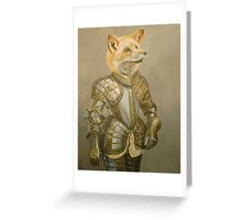 Fox Knight Greeting Card