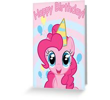 Pinkie Pie Birthday Card - Postcard My Little Pony Greeting Card