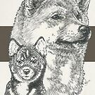 Shiba Inu Father & Son by BarbBarcikKeith