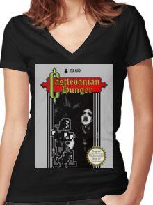 Castlevanian Hunger Women's Fitted V-Neck T-Shirt