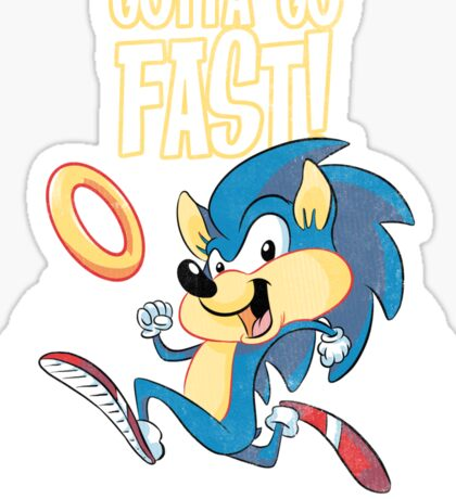 Speedy the Hedgehog (vintage) Sticker