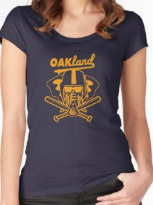 OAKland Athletics Edition Women's Fitted Scoop T-Shirt