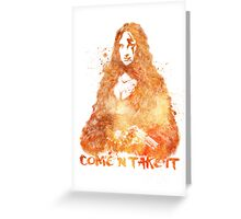 Mona Lisa Come AndTake It Greeting Card