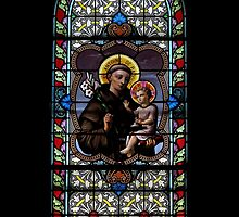Stained Glass Extravaganza: Saint Antoine de Padoue by artisandelimage