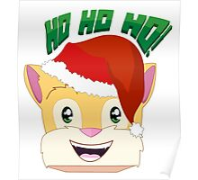 """Minecraft Youtuber Stampy Cat - Santa / Christmas / Winter / Holiday Limited Edition """"Ho Ho Ho!"""" Poster"""