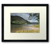 Beside the lake Framed Print