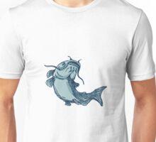 Catfish Mud Cat Jumping Up Drawing Unisex T-Shirt