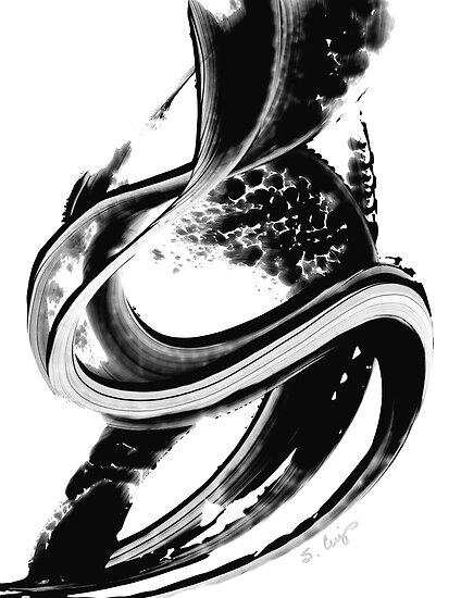 Black Magic 313 - Black And White Art by Sharon Cummings
