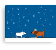 Christmas Snow Scene Canvas Print