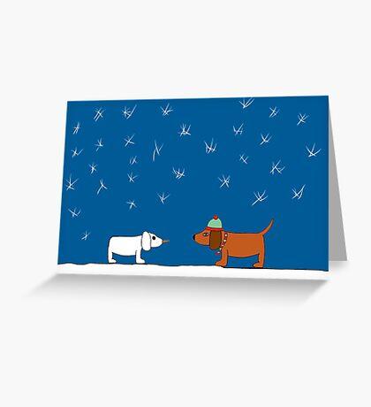Christmas Snow Scene Greeting Card