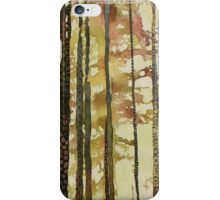 Forest Quilt, watercolor and mixed media on canvas iPhone Case/Skin