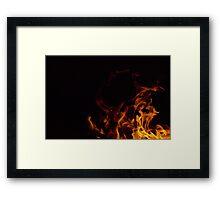 Flames in the dark Framed Print