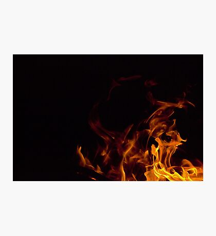 Flames in the dark Photographic Print