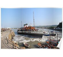 The Waverley Paddlesteamer, Minehead, Somerset Poster