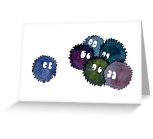 Watercolor Soot Sprites Greeting Card