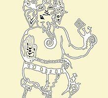 Ganesh by marbrure