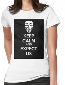 Anonymous face Womens Fitted T-Shirt