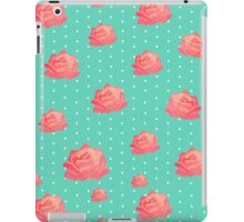 Vintage floral print - roses on polka dots iPad Case/Skin