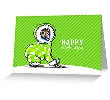 Italian Greyhound Snowsuit Happy Howl-i-days Greeting Card