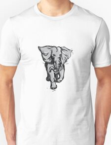 Elephant Rampaging Isolated Drawing T-Shirt