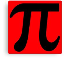 Pi Flavour Red Canvas Print
