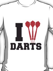 I Love Darts Logo T-Shirt